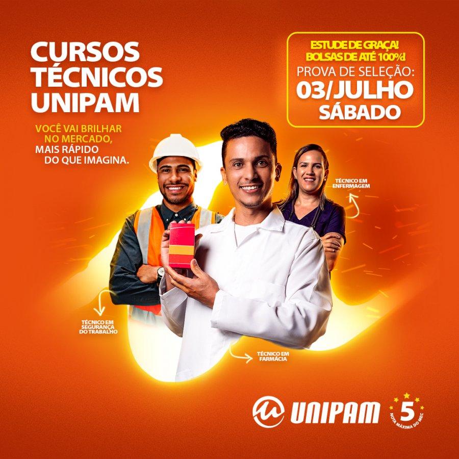UNIPAM concederá bolsas de estudo, de até 100%, para os Cursos Técnicos