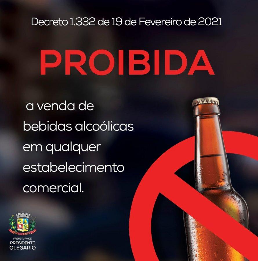 Decreto proíbe venda de bebidas alcoólicas em Presidente Olegário a partir de amanhã (20)