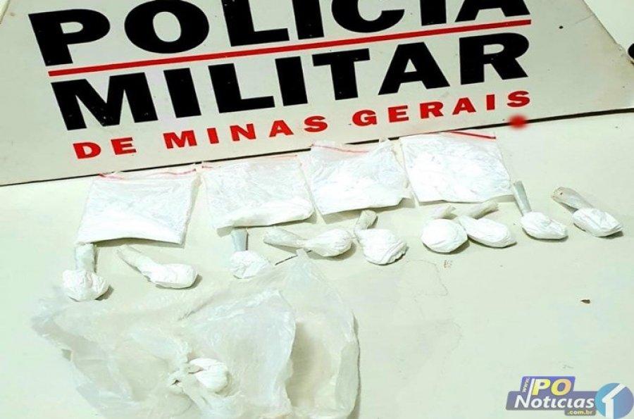 Jovem de 19 anos é preso com 14 papelotes de cocaína em Lagoa Grande