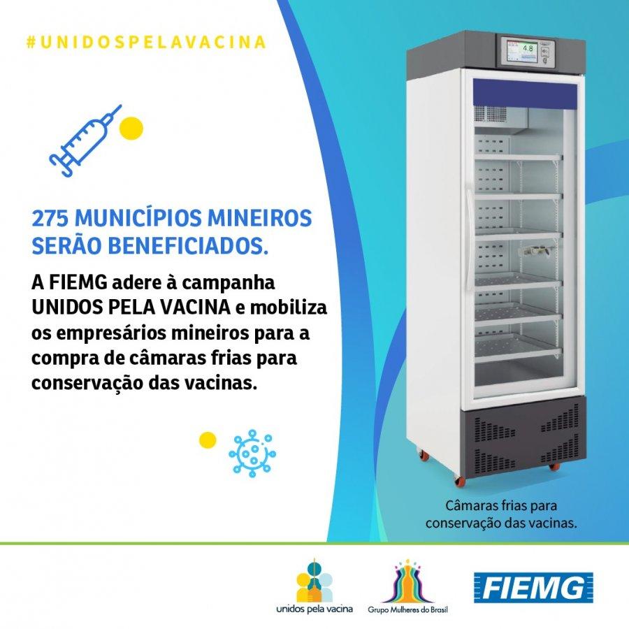 FIEMG doa câmaras frias para 125 municípios mineiros