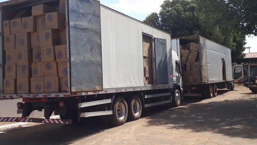 Polícia Civil recupera carga avaliada em R$5 milhões