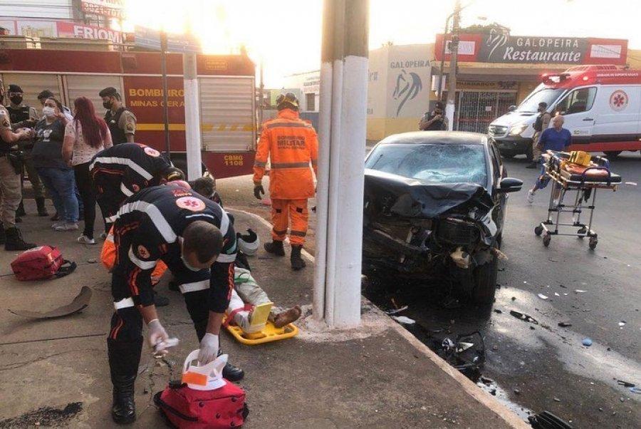 Grave acidente de trânsito é registrado na principal via da cidade