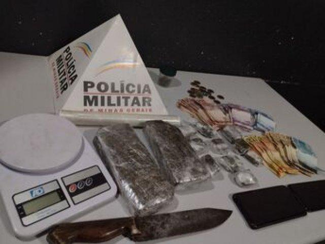 PM prende autores por tráfico e apreende drogas e dinheiro
