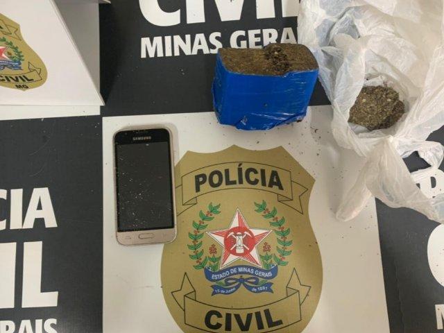 PC prende um suspeito por tráfico na região do Alto Paranaíba