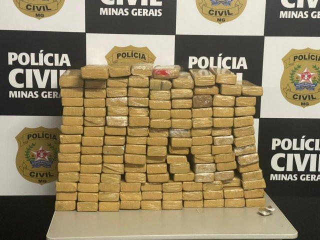 Suspeito por tráfico é preso com 115 quilos de maconha em Paracatu