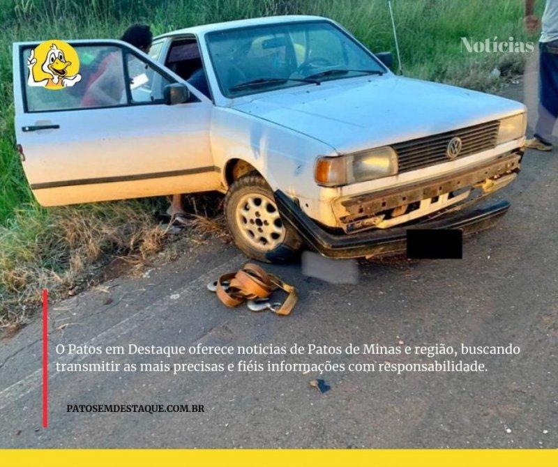 Corpo de Bombeiros registra acidente de trânsito na MGC 354 em Patos de Minas