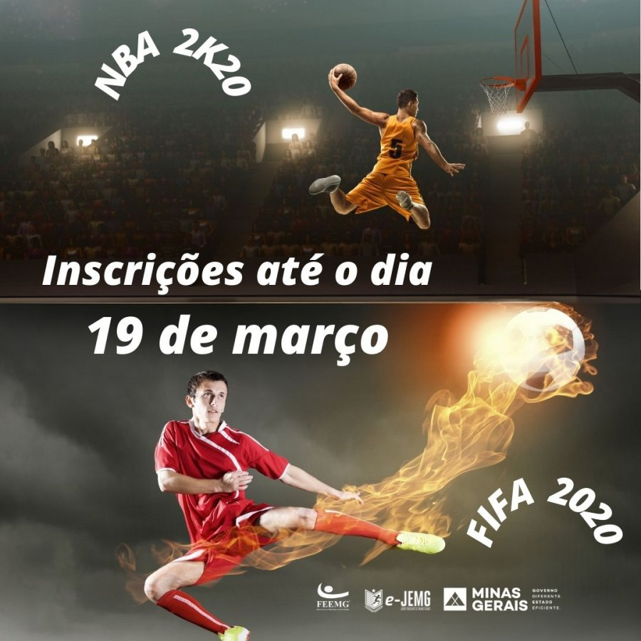 Prazo para inscrição no NBA 2K20 e FIFA 2020 termina dia 19 de março