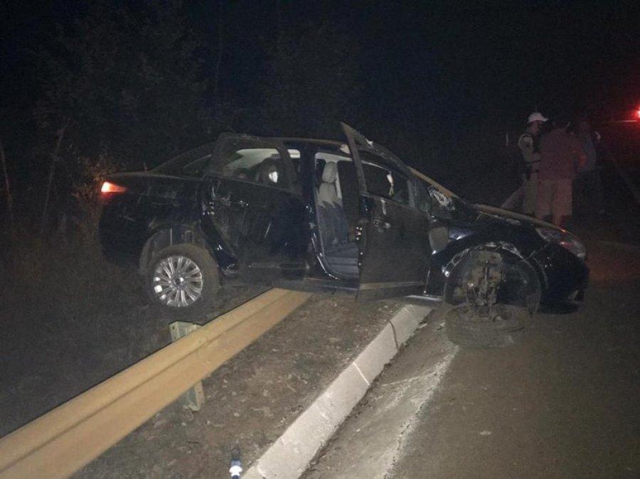 Queimada provoca acidente de trânsito na BR-352