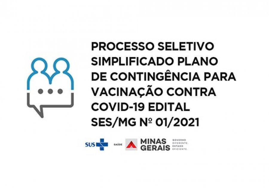 Aberto processo seletivo para atuação na campanha de vacinação contra covid-19