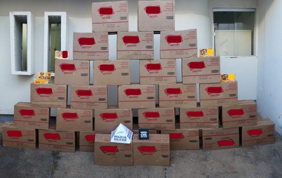 Campos Altos: Ação conjunta recupera 870 caixas de chocolates de carga