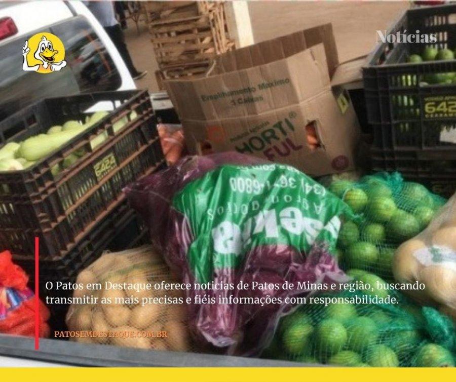 Produtores rurais doam frutas, legumes e verduras para o Hospital de Campanha