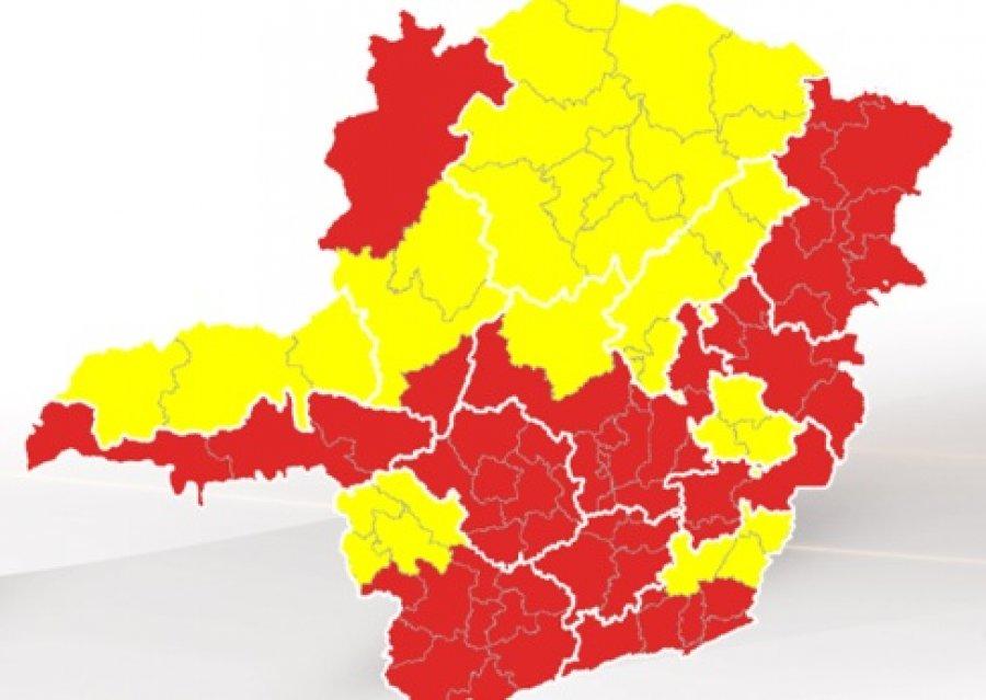 Estado tem queda de 38% na incidência da covid-19 e Patos de Minas avança para a onda amarela