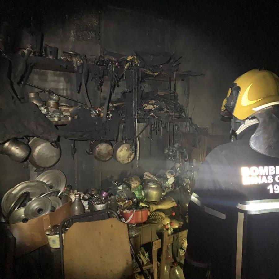 Bombeiros registram incêndio em residência na cidade de Lagoa Formosa