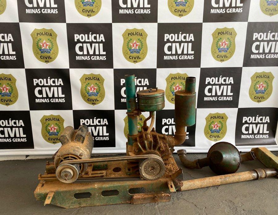PC recupera equipamentos de ordenha furtados em Presidente Olegário