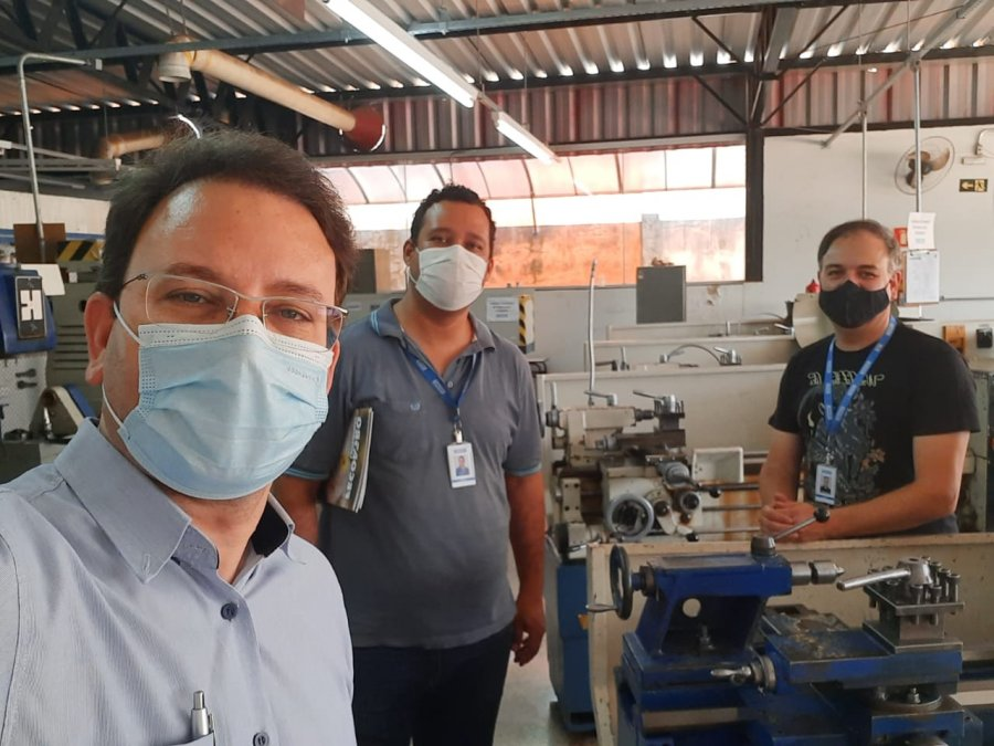 SENAI recebe visita de diretor da Fecoagro e Redecoop