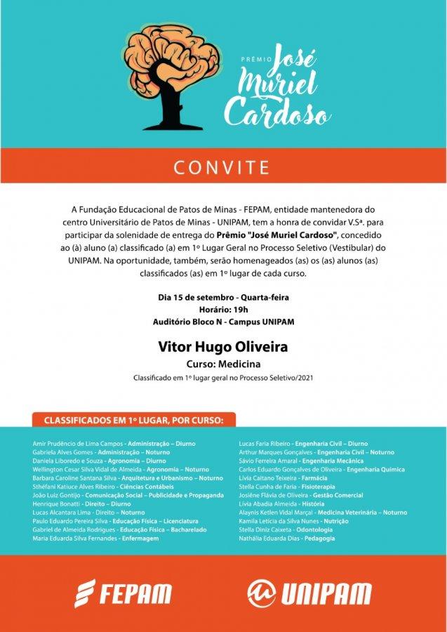 FEPAM e UNIPAM farão a entrega do Prêmio José Muriel Cardoso