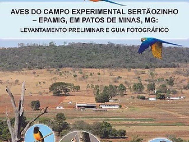 Obra sobre aves do campo experimental Sertãozinho em Patos de Minas é lançada no Brasil