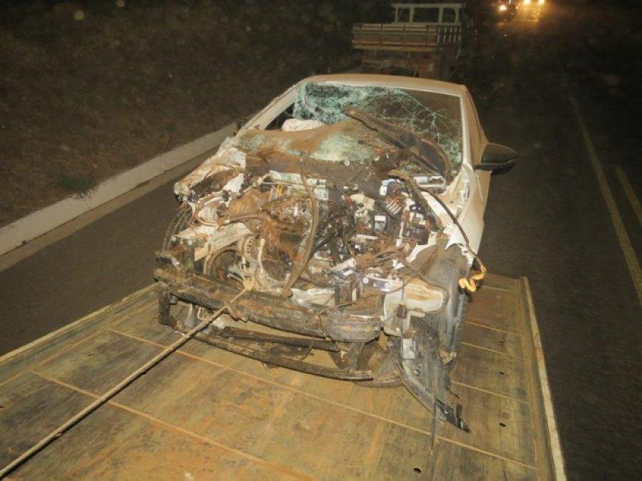 Engavetamento deixa duas pessoas feridas em acidente na BR 352