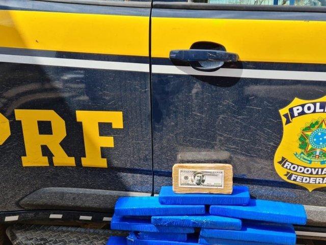 PRF prende homem transportando 7kg de maconha, 1kg de cocaína e 1kg de crack na BR-365