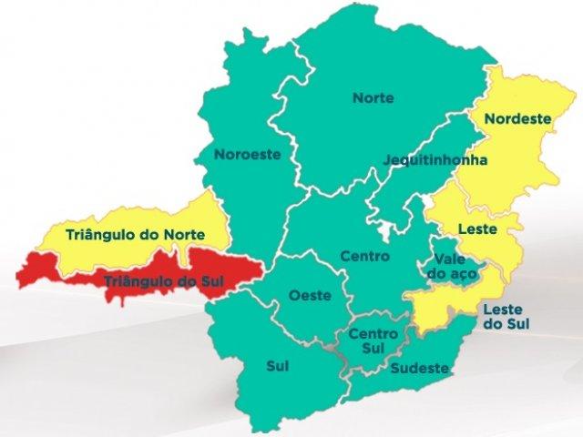Centro, Sul e Noroeste avançam e Minas tem nove das 14 macrorregiões na onda verde