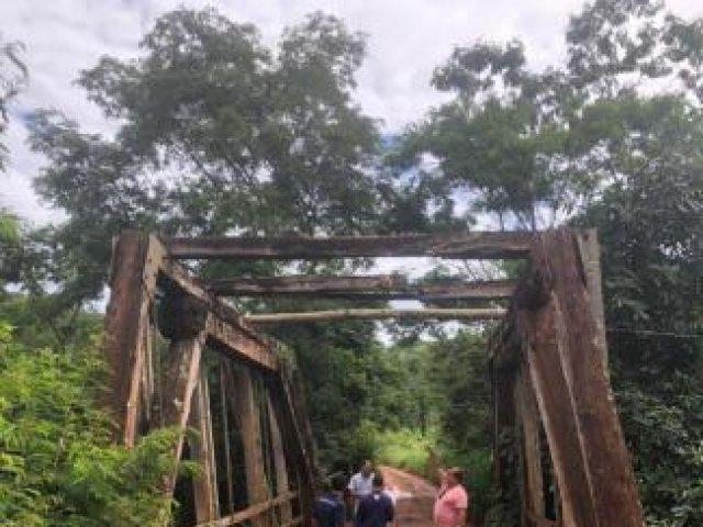 Iniciado projeto para revitalizar ponte sobre o Córrego Chumbo-Lajeado