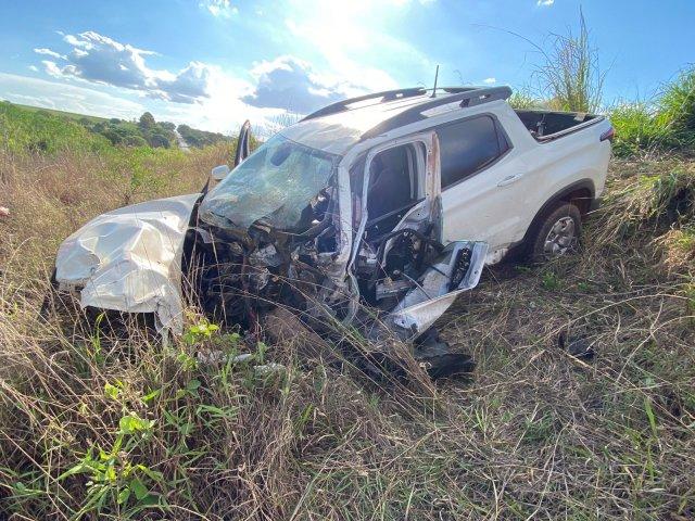 PRF registra grave acidente de trânsito na BR-365