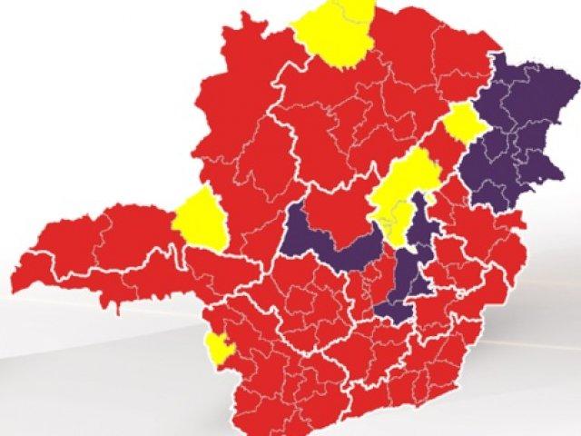 Macrorregiões Centro, Centro-Sul, Leste, Leste do Sul, Oeste e Vale do Aço avançam para onda vermelha