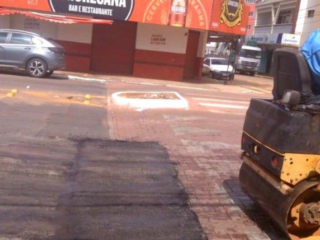 Prefeitura faz adequação em travessia elevada na Rua Major Gote