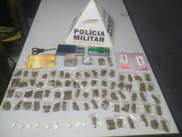 Polícia Militar apreende droga em lote vago