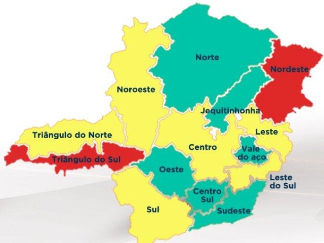Taxa de incidência da covid-19 cai 9% em Minas e quatro macrorregiões avançam para a onda verde