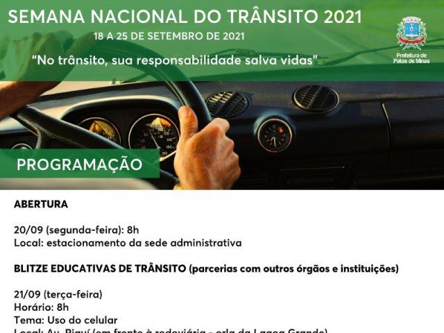 Realizada abertura oficial da Semana Nacional do Trânsito