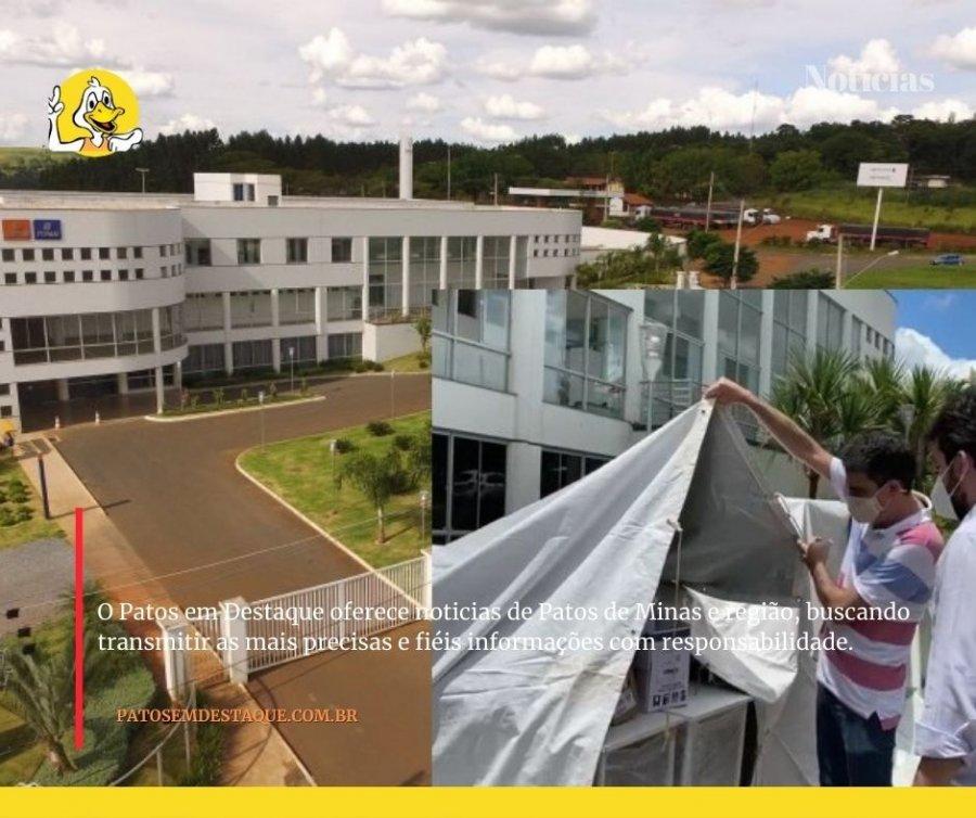 Covid-19: estrutura física do Hospital de Campanha será ampliada