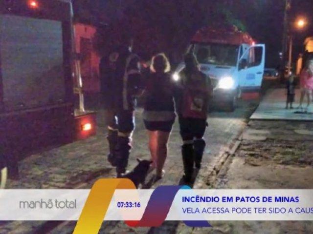 Vela acesa pode ter sido a causa de incêndio em Patos de Minas