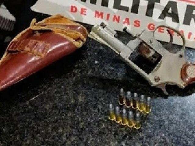 Em Patos de Minas, homem é preso por posse ilegal de arma de fogo