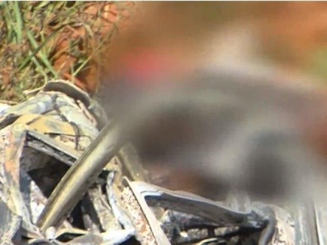 Regionais: Homem morre carbonizado em acidente na BR-365