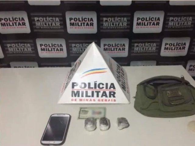 PM prende traficante que levava drogas para a zona rural de Patos de Minas