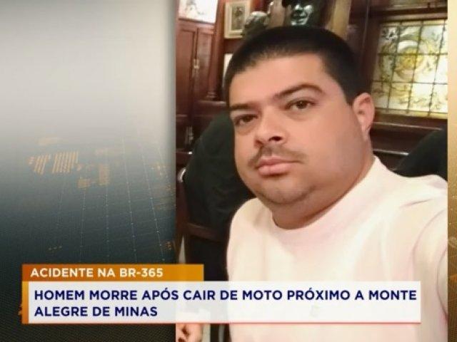 Homem morre após cair de moto na BR-365, próximo a Monte Alegre de Minas