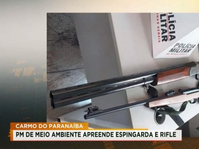 PM do Meio Ambiente apreende espingarda e rifle