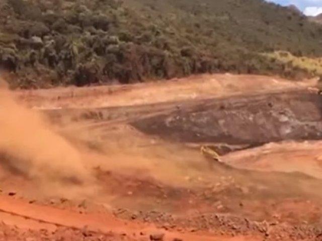 Vídeo mostra deslizamento em barragem